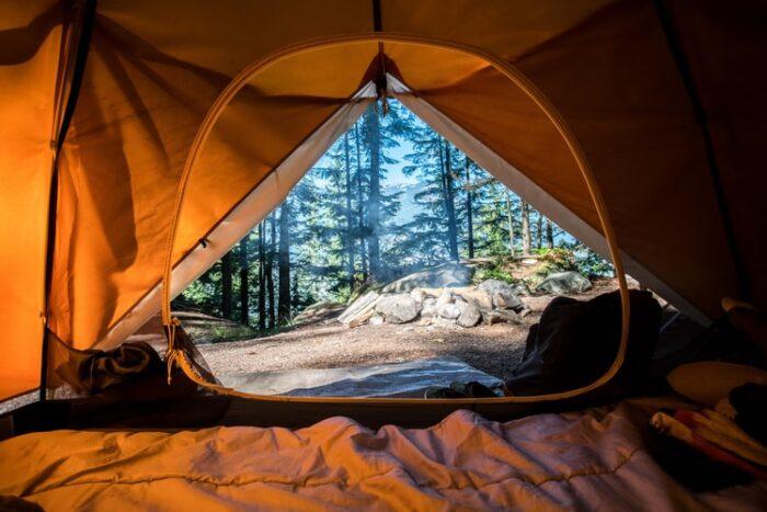 テントから見た景色
